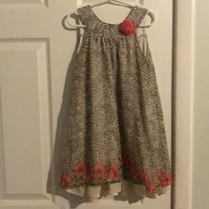 Girls size 5 animal print dress
